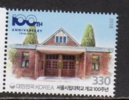 SOUTH KOREA , 2018, MNH,EDUCATION,  SEOUL UNIVERSITY, 1v - Stamps