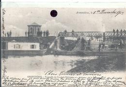 NORD - 59 - ARMENTIERES - Passerelle Du Canal De Dérivation Et Aubette De La Douane - Dogana