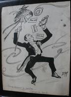 E.TAP (Edmond Tapissier) - Bony Menant Le Cotillon - Dessin Original 24 X 32 Cm. - Dessins