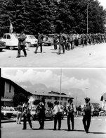 2 Photos De Combloux Années 70. Fête, Défilé. - Lieux