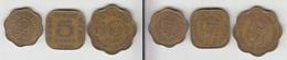 Ceylan 2 Cents + 5 Cents + 10 Cents 1944 Ceylon 2c + 5c + 10c - Colonies