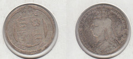 Grande Bretagne 1 Shilling 1891  UK  United Kingdom - 1816-1901 : Frappes XIX° S.
