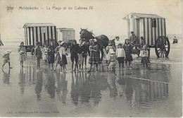 Middelkerke  -   La Plage Et Les Cabines IV.   -   Mooie Kaart!   1909   Naar   Hal - Middelkerke