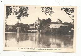 Cp, 86 , LA ROCHE POSAY , Les Bords De La CREUSE ,la Ville , Vierge - La Roche Posay