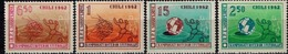 MSV-BK1-507 LICHTE PLAKKER MINT ¤ CHILE 1962 4w In Serie ¤ WORLD FOOTBALL CHAMPION SHIP - VOETBAL -SOCCER - FUSSBAL - - 1962 – Chile