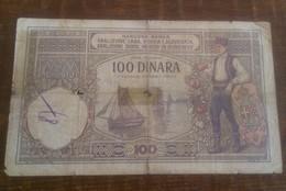 2 NOTES:SERBIA CROATIA SLOVENIA 1920 Banknote Note 100 DINARA BOAT SHIP+SERBIA UNC 2013 - Jugoslawien