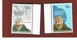 TERRITORI ANTARTICI AUSTRALIANI (AUSTRALIAN ANTARCTIC TERRITORY)  -  SG 53.54   -  1982 SIR D. MAWSON  - (MINT)** - Unused Stamps