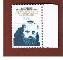 TERRITORI ANTARTICI AUSTRALIANI (AUSTRALIAN ANTARCTIC TERRITORY)  -  SG 60 -  1983 ANTARCTIC TREATY  - (MINT)** - Territorio Antartico Australiano (AAT)