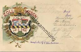 Zollwesen - Prägedruck - Gel. 1904 - Dogana