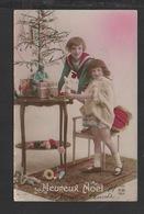DF / FÊTES ET VOEUX / NOËL / HEUREUX NOËL / FILLETTES- SAPIN DE NOËL - JOUETS - CADEAUX / CIRCULÉE EN 1923 - Santa Claus