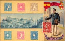 Poste Espagnole - Facteur Timbres 1907 - Postal Services