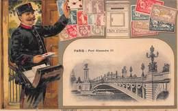 Facteur - Poste Lettres - Paris Pont Alexandre III - Postal Services