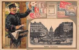 Facteur - Poste Lettres - Paris Rue Soufflot - Postal Services