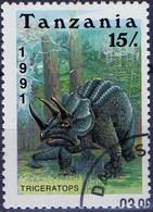 PIA  - 1991 - TANZANIA - Animali Preistorici - Triceratops  -   (Yv 715) - Tanzania (1964-...)