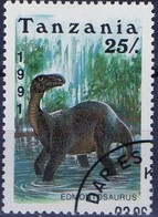 PIA  - 1991 - TANZANIA - Animali Preistorici - Edmontosaurus  -   (Yv 716) - Tanzania (1964-...)