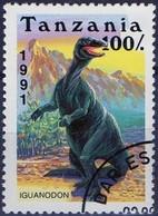 PIA  - 1991 - TANZANIA - Animali Preistorici - Iguanodon  -   (Yv 719) - Tanzania (1964-...)