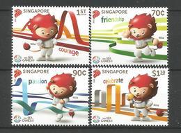 Singapore 2015 Sea Games Y.T. 2092/2095 ** - Singapore (1959-...)