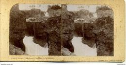 ANCIENNE VUE STÉRÉOSCOPIQUE LONS LE SAUNIER ET SA RÉGION PONT DE POITTE JURA CASCADE DE LA SAISSE - Photos Stéréoscopiques