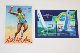 Brazil 29.07.1983 Mi # Bl 57-58, 1952 Helsinki, 1956 Melbourne, 1980 Moscow Summer Olympics Champions MNH OG - Verano 1980: Moscu