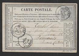 Eure - Cachet  GISORS Sur Carte Avec 15 C Type Sage ( N/B ) - Postmark Collection (Covers)