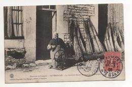 Bes0604 FAVEROLLES 52 LA DERNIERE FILEUSE DE CHANVRE Cachet Chaumont 1906 Sur Semeuse 10 Centimes - France
