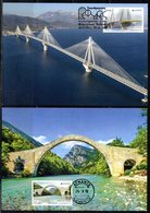 Greece 2018 > 9th Issue > EUROPA Bridges > Set Of 2 Maximum Cards - Maximum Cards & Covers