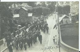 LANGEAIS - CARTE PHOTO - Revue Des Pompiers De Langeais 14 Juillet 1910 - Langeais