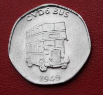 """Token Jeton Aluminium """" 20 National Transport Token / CVD6 Bus"""" Bus Londonien - London Bus - Professionnels/De Société"""