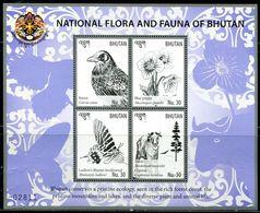XE0516 Bhutan 2016 National Symbols National Flowers National Birds National Animals S/S MNH - Bhutan