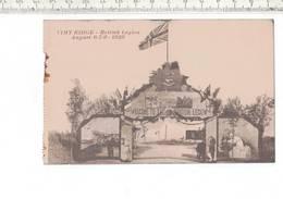 47035 -d5- VIMY RIDGE - BRITISH LEGION AUGUST 6-7-9- 1928 - War Memorials