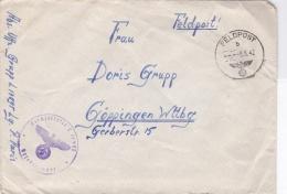 German Feldpost WW2: From Le Havre, France - 1. Batterie Leichte Flak-Abteilung 842 (v)  FP L17895 LGPA Paris P/m 8.6.19 - Militaria