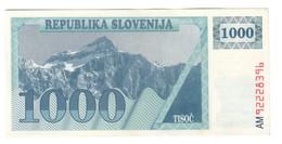 Slovenia 1000 Tolarjev 1991-92 XF+/AUNC - Slovenia