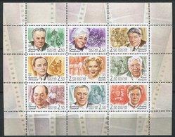 Russie** N° 6589 à 6597 - Acteurs De Cinéma - 1992-.... Föderation