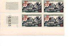 COINS DATES SURCHARGE UZERCHE FRANCE CFA REUNION DOM TOM 1955 - Réunion (1852-1975)
