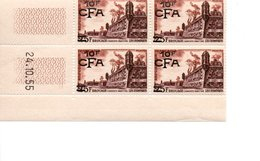 COINS DATES SURCHARGE BROUAGE CHARENTES MARITIMES FRANCE CFA REUNION DOM TOM 1955 - Réunion (1852-1975)