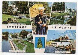 FONTENAY LE COMTE--1968--Multivues (costume,coiffe,piscine.....)--blason--cachet Foire EXPO - Fontenay Le Comte
