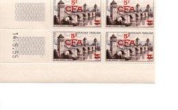 COINS DATES SURCHARGE CAHORS FRANCE CFA REUNION DOM TOM 1955 - Réunion (1852-1975)