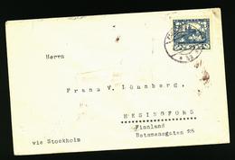 A5553) Czechoslovakia Brief Zensur 1919 N. Finnland - Briefe U. Dokumente