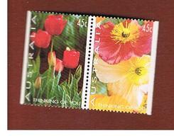 AUSTRALIA  - SG 1146.1147 - 1994 GREETING STAMPS: FLOWERS (SE-TENANT)                                  -   (MINT)** - Nuovi