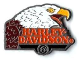 MOTO - M77 - HARLEY DAVIDSON - TETE D'AIGLE - Verso : C 1991 BARON - Motorräder