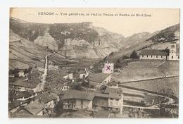 01 Cerdon, Vue Générale, Vieille Route Et Roche De Saint Alban (4108) - France
