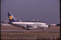 SLIDE / AVION / AIRCRAFT   KODAK  ORIGINAL  LUFTHANSA  B 737  D-ABZI - Diapositives (slides)