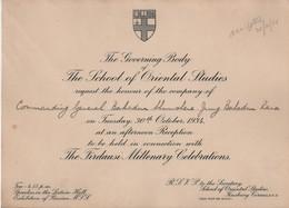 FIRDAUSI MILLENARY ROYAL ASIATIC SOCIETY SCHOOL OF ORIENTAL STUDIES NEPAL 1934 - Tickets - Vouchers