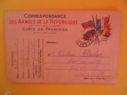 France Carte En Franchise Militaire 1914 Michot Albert Pour La Seine Inférieur - Cartes De Franchise Militaire
