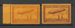 Deutsches Reich Ca 1911 Zeppelin Liegnitz Flugpost MNH Signed - Allemagne