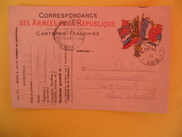 France Carte En Franchise Militaire 1915 Michot Albert Pour La Seine Inférieure Secteur Postal 150 - Cartes De Franchise Militaire