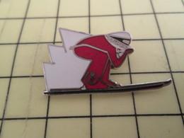 613c Pin's Pins / Rare & Belle Qualité / THEME SPORTS : SKI DE VITESSE CASQUE PRUFER - Winter Sports