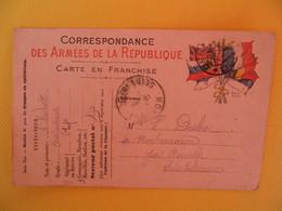 France Carte En Franchise Militaire 1915 Michot Albert Pour La Seine Inférieure Secteur Postal 155 - Cartes De Franchise Militaire
