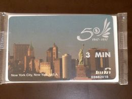 VINTAGE !  1997 Singapore Airlines 50th Anniversary Telekey Phone Card New York USA Design - Other