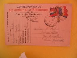 France Carte En Franchise Militaire 1915 Michot Albert Pour La Seine Inférieure Secteur Postal 93 - Cartes De Franchise Militaire